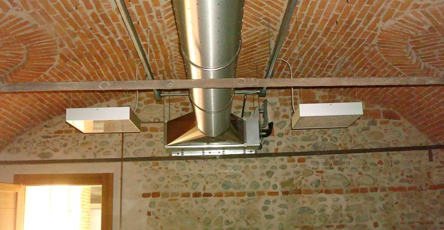Gemini project srl climatizzazione ad aria con diffusori a - Canalizzazione aria condizionata ...
