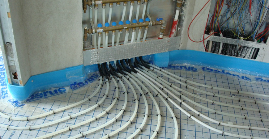 Caldaia a condensazione per riscaldamento a pavimento