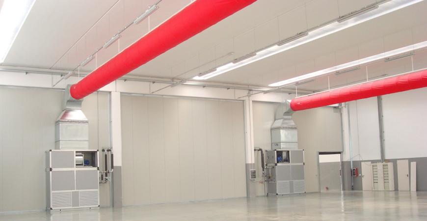 GEMINI PROJECT srl Generatore di aria calda a condensazione con diffusori a vista  GEMINI ...